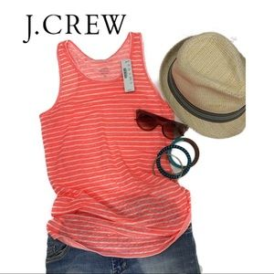 J. Crew striped linen tank top - racerback - NWT
